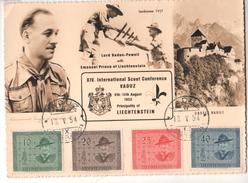CM LIECHTENSTEIN XIV INTERNATIONAL SCOUT CONFERENCE VADUZ 1953 - Liechtenstein