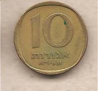 Israele - Moneta Circolata Da 10 Agora - 1960/1977 - Israele