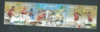 Tonga 2000 Sydney Olympic Games Strip Of 5 MNH , 1 Stamp Small Fault - Tonga (1970-...)