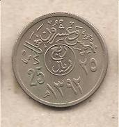 Arabia Saudita - Moneta Circolata Da 25 Halala - 1972 - Arabia Saudita