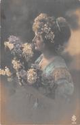 Cpa Fantaisie - Femme - Frau- Lady - Portrait - Mujeres