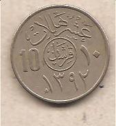 Arabia Saudita - Moneta Circolata Da 10 Halala - 1972 - Arabia Saudita