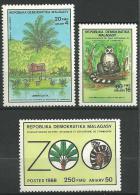 """Madagascar YT 857 à 859 """" Parc Botanique Et Zoologique """" 1988 Neuf** - Madagascar (1960-...)"""