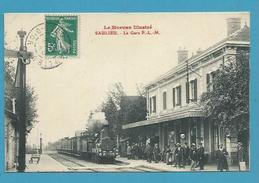 CPA - Chemin De Fer Arrivée Du Train En Gare P.L.M. De SAULIEU 21 - Saulieu