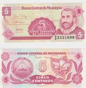 NICARAGUA  5 CENTAVOS 1991 FDS - Nicaragua