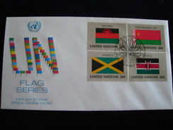UNITED NATIONS FDC  1983 FLAGS