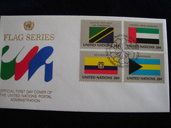 UNITED NATIONS FDC  1984 FLAGS