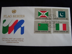 UNITED NATIONS FDC  1984 FLAGS - Enveloppes