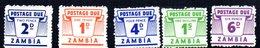 Serie Nº Taxa 1/6 Falta Nº  3  Zambia - Zambia (1965-...)