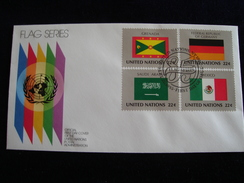 UNITED NATIONS FDC  1985 FLAGS