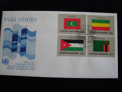 UNITED NATIONS FDC  1986 FLAGS