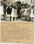 WW2 - Photo Accueil De Marins Américains Dans Un Village Anglais En Juillet 1942 Et Télégramme Agence De Presse - Documenti