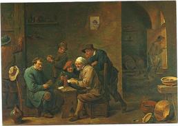 T2140/41 David Teniers - Giocatori Di Carte - Torino Galleria Sabauda - Dipinto Paint Peinture - Paintings