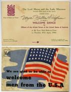 WW2 - Carton D'invitation Pour Les Officiers Américains En Angleterre - Avril 1944 - Dokumente