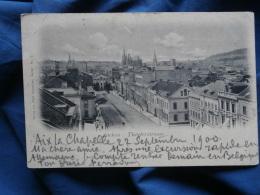 Aachen Theaterstrasse  - Adolf Schweitzer 2 Dos Simple Circulée 1900 L294 - Aachen