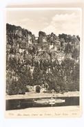 Sächs. Schweiz, Elbetal Bei Rathen, Bastei-Felsen, Deutschland Germany, Echte Foto, Stamps DDR - Bastei (sächs. Schweiz)