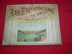 CALENDRIER 1892 - A LA TRICOTEUSE - VETEMENTS TOUT FAITS & SUR MESURE- CHAUMONT (Haute-Marne), 11 & 13 Rue Voie De L'Eau - Formato Grande : ...-1900