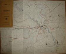 Stromberg 1956 - 56cm X 54cm - Maßstab 1:12'500 - Karte Der Spazier- Und Wanderwege In Der Näheren Und Weiteren Umgebung - Topographische Karten