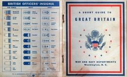 WW2 - Guide à L'intention Des Soldats Américains Stationnés En Grande-Bretagne édité En Juillet 1942 - Documents