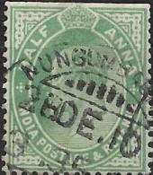 INDIA 1906 King Edward VII -  1/2a. - Green  FU - India (...-1947)