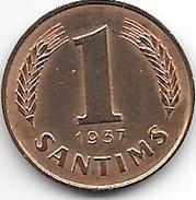 *latvia 1 Santimi 1937  Km 10  Unc !!!! - Lettonie