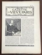 GAZETTE DU VIEUX PARIS N°9 - 1900 - 1949