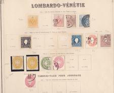 ANCIENS ETATS ITALIENS  AVEC VIEILLES COTES EN FRANCS  2 TIMBRES SIGNES  AUTHENTIQUES, REIMPRESSIONS, FAUX  ) - Lombardo-Veneto