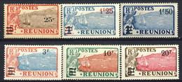 Reunion 1924 - 27 Serie N. 103-108 MVLH Cat. € 58 - Unused Stamps