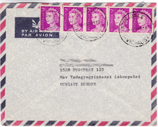 821 Australia Lettre Huntingdale To Budapest 5x 7c Queen Elizabeth II - 1966-79 Elizabeth II