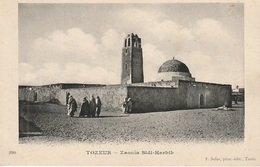 CPA Tozeur - Zaouïa Sidi-Harbib (avec Animation) - Tunisie