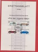 Allemagne  --  Fur Die Jugend 1982 --  6/1982 - FDC: Feuilles