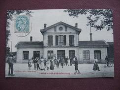 CPA 70 SAINT LOUP SUR SEMOUSE La Gare 1906 BELLE ANIMATION - France