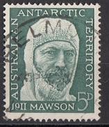 L7 Australia 1961 Australian Antarctic Territory :Douglas Mawson : Spedizione Australiana Nell'Artico Viaggiato Used - Territorio Antartico Australiano (AAT)