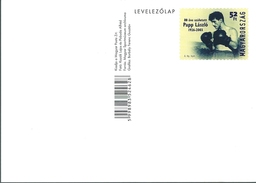 3191 Hungary Postcard Olympic Boxing Champion Papp Laszlo Unused