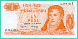 1 Peso - Argentine - N°.63908835E - Decret 69 - Neuf - - Argentine