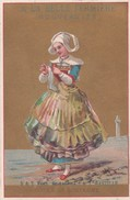 CHROMO 1900 A LA BELLE FERMIERE / GRANDS MAGASINS DE NOUVEAUTES / COTES DE BRETAGNE / TRICOT / TRICOTER - Chromos