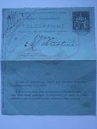 FRANCE 1898 Telegramme - Cartes Pneumatiques - With Commerce De Paris Cachet Inside - 2 Scans - Postal Stamped Stationery