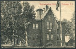 1913 USA Reading Academy Flemington, New Jersey Postcard - Redruth Cornwall GB. Postage Due Taxe - United States