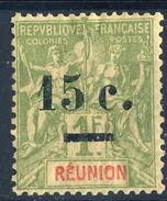 Reunion 1901 Serie N. 55 C. 15 Su F. 1 MH Cat. € 25 - Unused Stamps