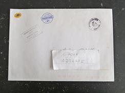 SIGOULES CCT1 - DORDOGNE - CACHET ROND MANUEL SUR ENVELOPPE SERVICE LA POSTE - Manual Postmarks