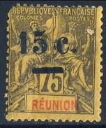 Reunion 1901 N. 54 C.1 5 Su C. 75 MH Cat. € 30 (angolo Corto) - Unused Stamps