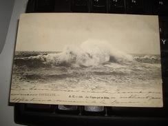 CPA 14  CALVADOS   HOULGATE  1904 Obliteration - VAGUES - Houlgate
