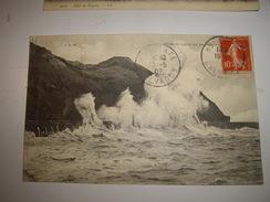 CPA 14  CALVADOS   HOULGATE 1907   Obliteration - VAGUES - Houlgate