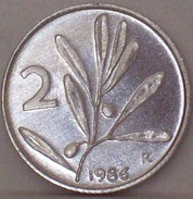 ITALIA - 2 Lire 1986 Ulivo ALTA CONSERVAZIONE - VEDI FOTO - 1946-… : Repubblica