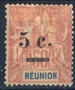 Reunion 1901 Serie N. 53 C. 5 Su C. 50 MH Cat. € 12x - Unused Stamps