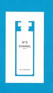 Cartes Parfumées Carte CHANEL N°5  EAU PREMIERE   De CHANEL - Modernes (à Partir De 1961)