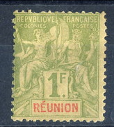 Reunion 1892 N. 44 F. 1 Oliva MH Cat. € 58 - Unused Stamps