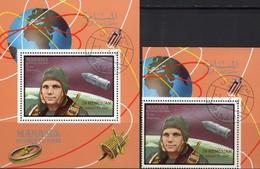 CCCP Memorian Gagarin 1969 VAE Manama 211+Bl.L35 AD O 30€ SU WOSTOK Bloque Bloc Hoja M/s Space Sheet Bf Adschman Ss - Spazio