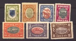 Ingrie - Ingerland :  Yv  8-14  ** , N° 8  * - 1919 Occupation Finlandaise