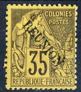 Reunion 1891 N. 25 C. 35 Violetto-nero Su Giallo MH Cat. € 50 - Unused Stamps